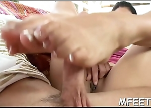 Nasty dude seems to have a diversion worshiping his sexy babe'_s feet very authoritatively