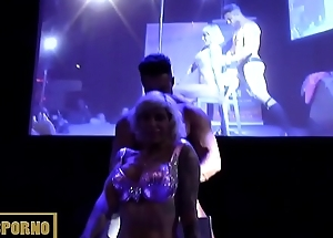 Hot stripper couple on stage