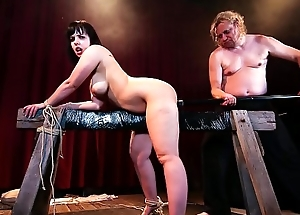 BADTIME STORIES - Wild BDSM session with submissive chubby German slave Pina Deluxe