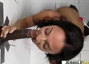 Petite Teen Takes Black Cock In Gloryhole Booth - Amara Romani