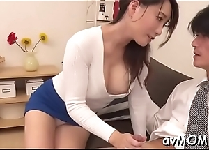 Sexy mother i'_d get a bang to fuck gets on knees to suck in extensive cock, cum shot