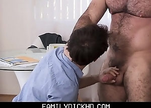 Twink Step Son Stays Home From School To Have Sex With His Physically Bear Step Dad