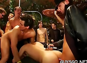 Astounding homo orgy as horny dudes get fucked by ripped studs