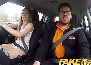 Fake Driving School Carmel Anderson ends giving out with an orgasmic climax