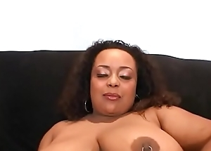 Big booty black floozie XXXplosive enjoys hard cock in her twat in doggystyle
