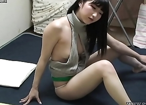 Japanese Teen Maria Downblouse with an increment of Cameltoe Wedgie