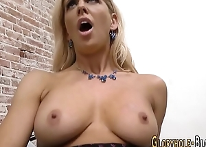 Gloryhole milf cum filled