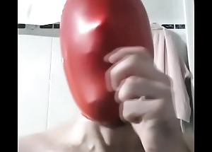 Make a wank breathplaying beside a latex balloon on your head and you will explode