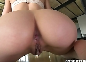 Close-fisted asshole filled with thick cock