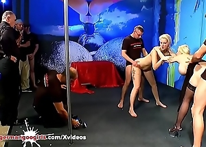 Stepmom and Little one fucked side by side - German Goo Girls