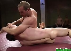 Maledom stud drills ass after wrestling