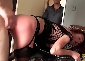 Redhead subslut Monica Bollocksy made red with hardcore anal