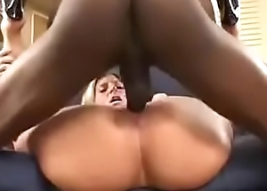 Monster Black Cock tears up White girl pussy interracial Hard BBC Fuck