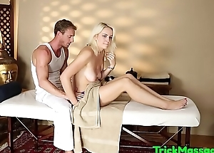 Bigtitted massage babe plowed and jizzsprayed