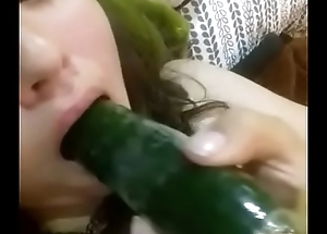 Teen Msturbating With Cucumber