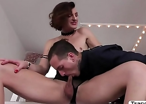 TS Allysa Etain gets bang in the butthole