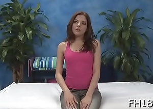 Sexy 18 year old tot gets screwed hard from behind by her masseur