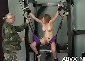 Raw scenes with obedient sweethearts enduring advanced bondage sex