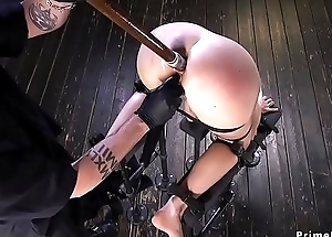 Blonde pussy plus anal fucked with respect to tool