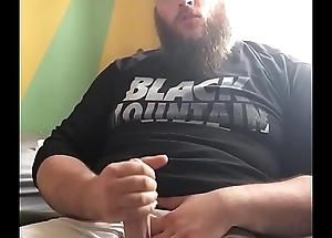 Huge Bearded Bear Jerks His Big Veiny Pack off