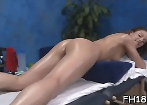 Gir gets an arse massage then fucks her therapist