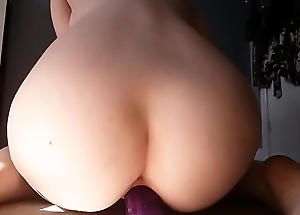 Fucking her pussy in the air huge dildo add my snap @karryb94
