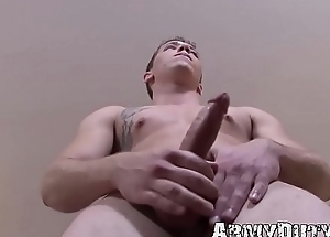 Young army man masturbates parallel to there&#039_s no tomorrow