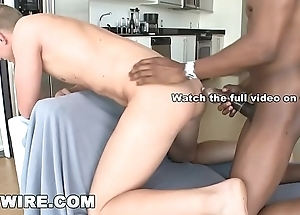 GAYWIRE - Bo Redwood Gets His White Ass Wrecked By Bo Redwood'_s Big Black Dick