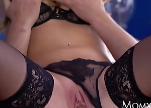 MOM Hot Scottish blonde Georgie Lyall stained blowjob and doggy