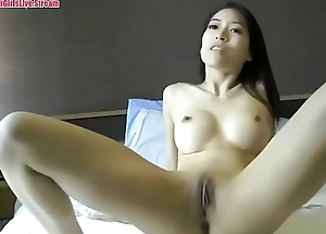 Hot Asian girl fucked in hotel room - POV amateur webcam