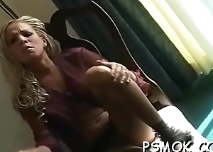 Elegant unfocused in sexy underware loves to tease while smoking