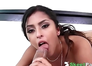 Hot Latina Teen Sophia Leone oiled and fucked hard by huge cock