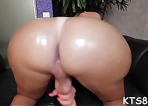 Kinky shemale bounces on cock with her gazoo and jerks off cock