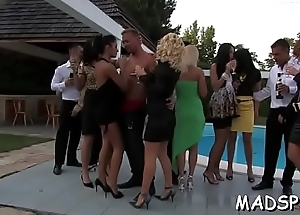 Riveting whores enjoy a monster cock feast at a sex party