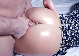 Hot Oil Ass Fuck and Cumshot on Pussy
