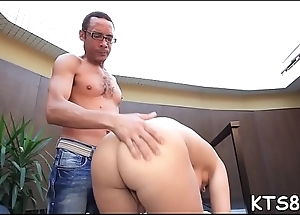 Coltish squander ladyboy wench cannot stop riding this impressive boner