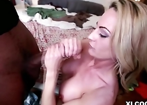 Sindy Lange takes big sooty cock
