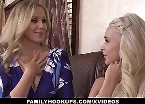 FamilyHookUps - Stepmom Trains Daughter with Vibrator