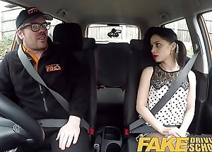 Fake Driving School Rough around seat fuck for petite infatuated learner