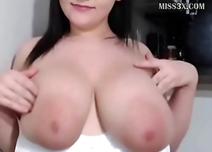 pretty lady got huge boobs and love to chat her way-out followers