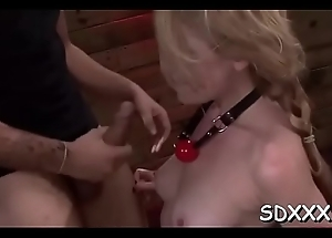 Slut gets will not hear of holes penetrated deep by a rough stud