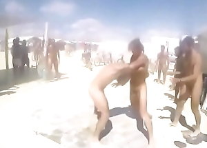 Challenge naked men on the beach