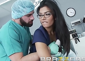 Doctors Stake - (Shazia Sahari) - Doctor pounds Nurse while patient is outside cold - Brazzers