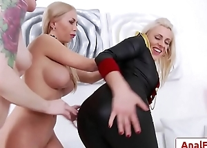 Astounding lesbian anal threesome with Isabella Clark, Brittany Bardot, Anna De Ville